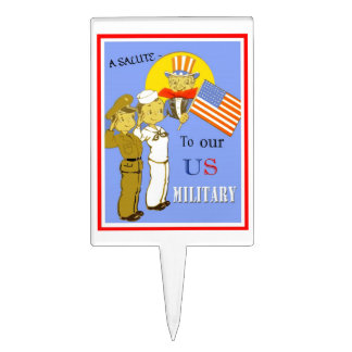 A Salute To Our US Military Cake Topper
