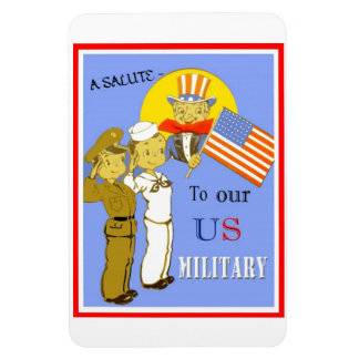 A Salute To Our US Military Flexi Magnet