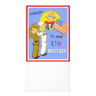 A Salute To Our US Military Photo Card