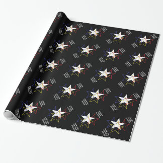 A SALUTE TO THE MILITARY WRAPPING PAPER