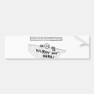 A Salute to Veterans of WWII (Kilroy) Car Bumper Sticker