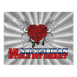A Salvadoran Stole my Heart Postcard