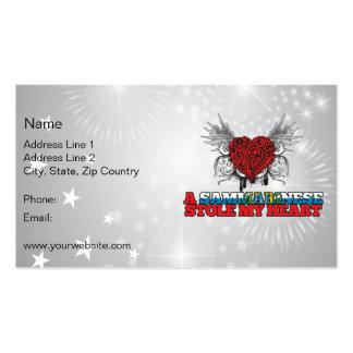 A Sammarinese Stole my Heart Business Card