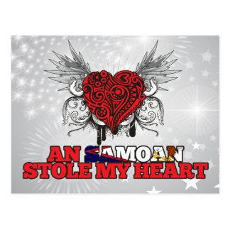 A Samoan Stole my Heart Postcard
