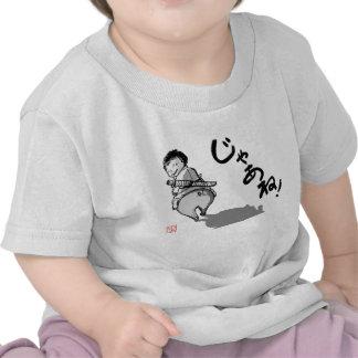 "A Samurai kid riding a pig saying ""See yah!"" Tee Shirt"