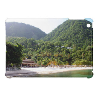 A sandy beach on the island of Saint Lucia Case For The iPad Mini