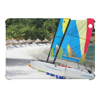 A sandy beach on the island of Saint Lucia iPad Mini Cover