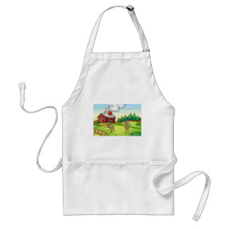 a santa claus and a reindeer adult apron