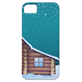 a santa claus and a reindeer iPhone 5 cover