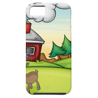 a santa claus and a reindeer iPhone SE/5/5s case