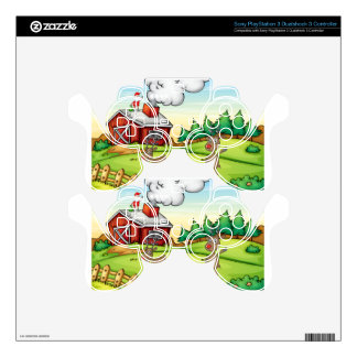 a santa claus and a reindeer PS3 controller skins