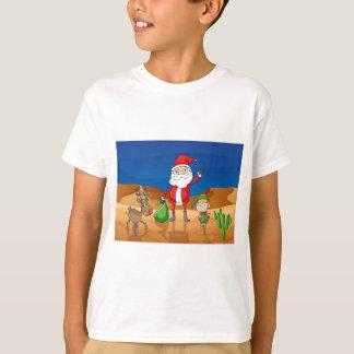 a santa claus and a reindeer T-Shirt