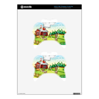 a santa claus and a reindeer xbox 360 controller skins