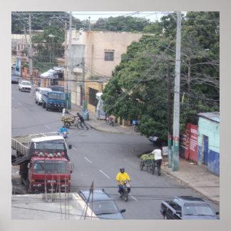 A Santo Domingo, Dominican Republic Neighborhood Poster