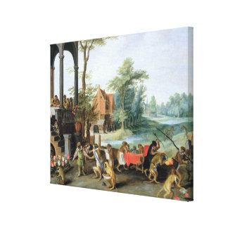 A Satire of the Folly of Tulip Mania Canvas Print