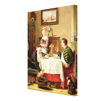A Satisfying Meal, 1883 (oil on  canvas) Canvas Print