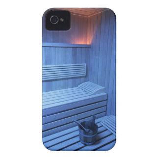 A sauna in blue light, Sweden. iPhone 4 Case