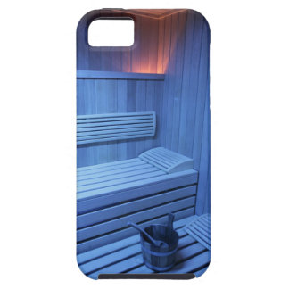A sauna in blue light, Sweden. iPhone SE/5/5s Case