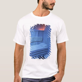 A sauna in blue light, Sweden. T-Shirt