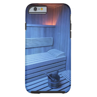 A sauna in blue light, Sweden. Tough iPhone 6 Case