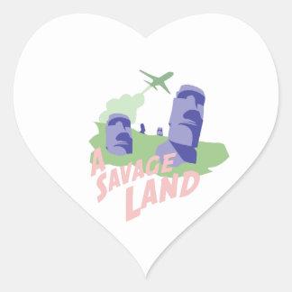 A Savage Land Heart Sticker