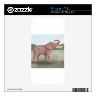 A savannah elephant iPhone 4S decal