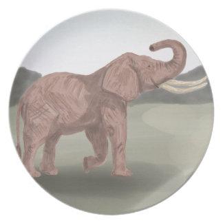 A savannah elephant plate