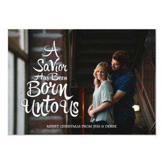 A Savior is Born Christmas Card