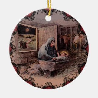 A Savior is Born Vintage Christmas Ornament