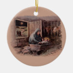 A Savior is Born Vintage Christmas Ornament
