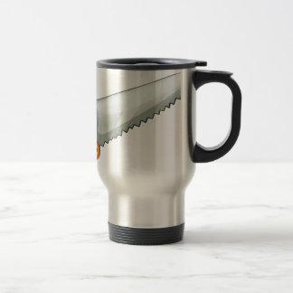 A saw 15 oz stainless steel travel mug