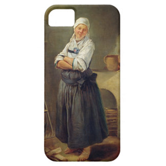 A Saxon Villager in her Kitchen (oil on canvas) iPhone 5 Cover