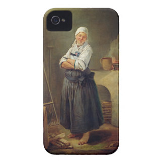 A Saxon Villager in her Kitchen (oil on canvas) Case-Mate iPhone 4 Cases