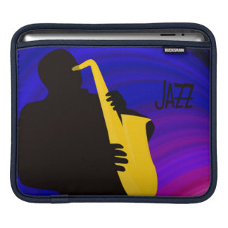 A saxophone player playing the jazz iPad sleeve