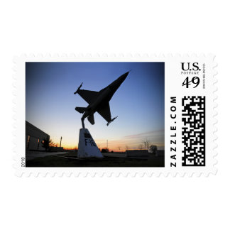A scale model of an F-16 C Fighting Falcon Postage