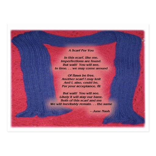 A Scarf For You Post Cards