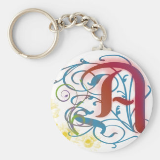 A Scarlet Letter Keychain