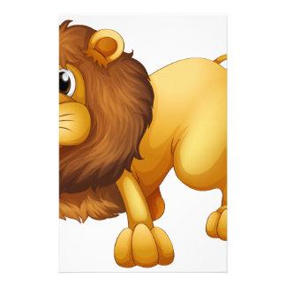 A scary lion stationery