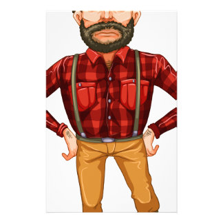 A scary lumberjack standing stationery