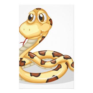 A scary snake stationery