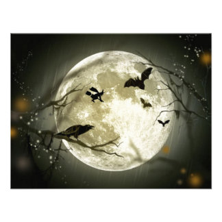 A Scary Witchy Moon Invitation