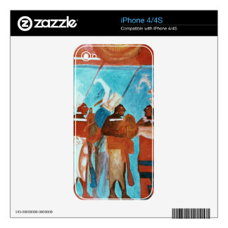 A Scene from Life, depicting musicians playing dru iPhone 4 Skin