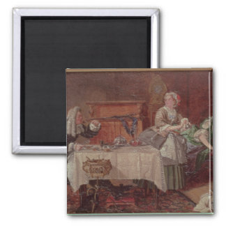 A Scene from 'Tartuffe' by Moliere, 1850 2 Inch Square Magnet