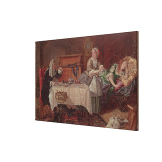 A Scene from 'Tartuffe' by Moliere, 1850 Canvas Print