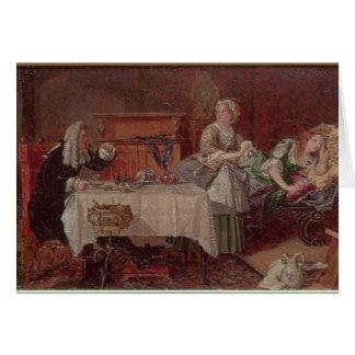 A Scene from 'Tartuffe' by Moliere, 1850 Card