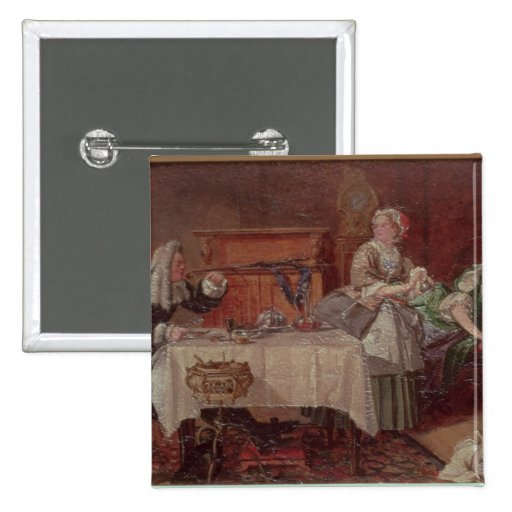 A Scene from 'Tartuffe' by Moliere, 1850 Pinback Button