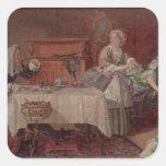A Scene from 'Tartuffe' by Moliere, 1850 Square Sticker