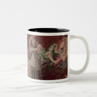 A Scene from 'Tartuffe' by Moliere, 1850 Two-Tone Coffee Mug