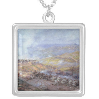 A Scene from the Russo-Turkish War Silver Plated Necklace