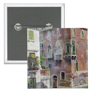 A Scene in Venice 2 Inch Square Button